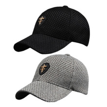 Imitation Linen Knitted Men And Women Autumn Classic Cross Adjustable Outdoor Fitted Hats Baseball Sport Caps