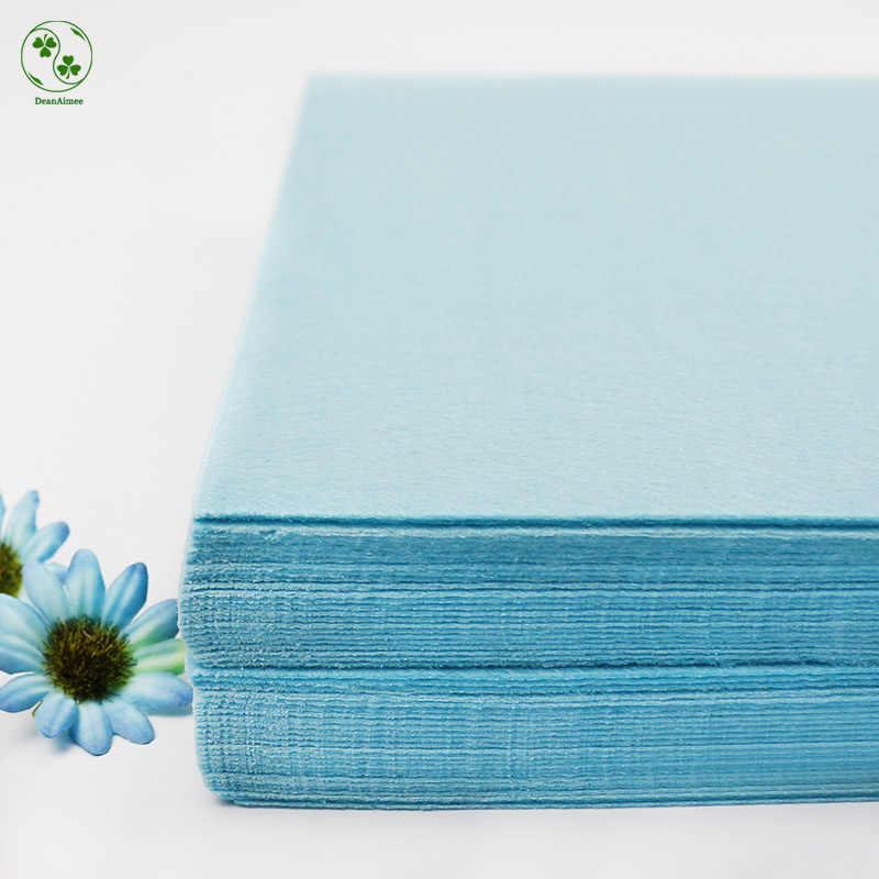 """Воздушный голубой цвет DIY ткань войлочный лист 30X30 см Чистый Цвет толщиной 1 мм плотная фетр упаковка инструменты для шитья """"сделай сама"""" квадратов лоскутное нетканый материал"""