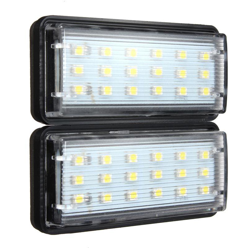 2x LED SMD3528 License Plate Light Number Plate Lamp For Toyota/Land/Cruiser/Lexus/GX/LX470 Error Free 18 smd led license number plate light for toyota camry xv50 corolla fielder nze161 yaris xp150 prius c ractis verso s