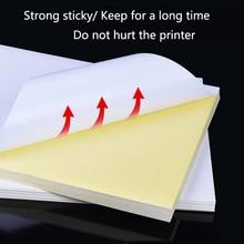 50 листов A4 лазерный струйный принтер копир крафт-бумага белая самоклеющаяся наклейка этикетка матовая поверхность бумажный лист