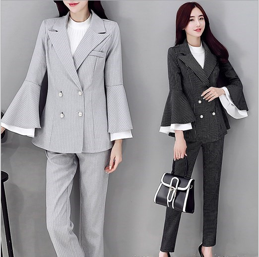 Popular Double Breasted Pants Suit Women-Buy Cheap Double Breasted ...
