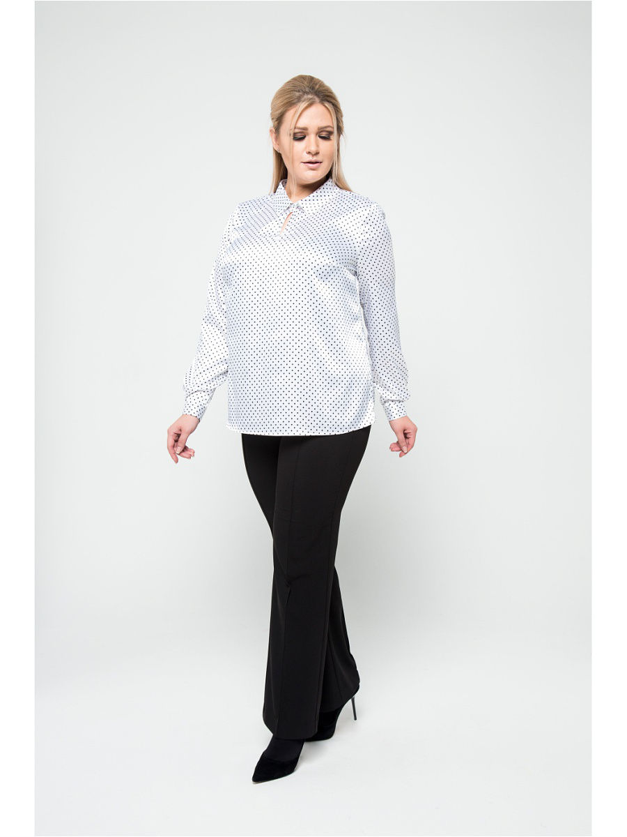Фото - [Available from 10.11] Blouse, KR contrast lace keyhole back blouse
