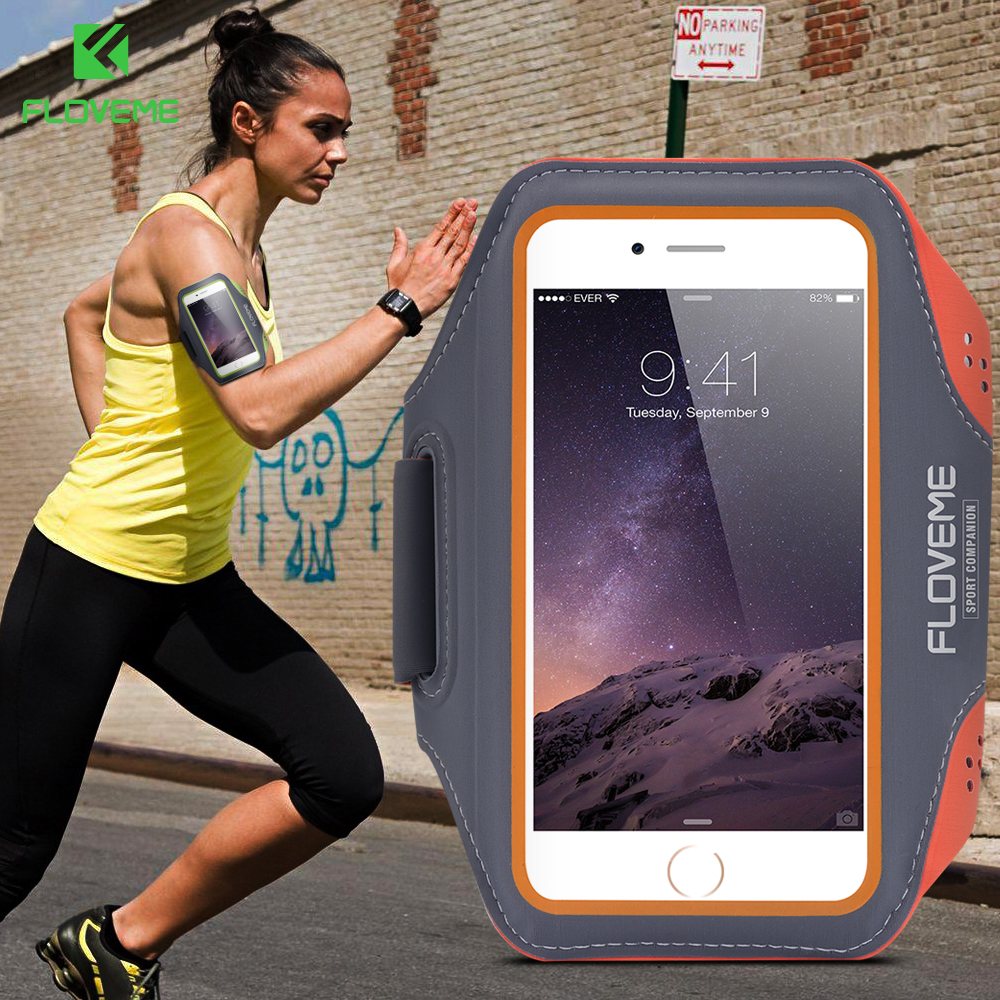 FLOVEME Waterproof Sport Arm Band Case Running Gym Accessory Bag For iP