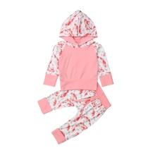 лучшая цена Toddler Baby Kids Girl Cotton Carp Print Hooded Long Sleeve Tops Sweatshirt Pants Leggings 2Pcs Outfit Set Clothes 2019