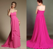 2015 Sale New Sweetheart Floor Length Chiffon Prom Gown A line Long font b Evening b