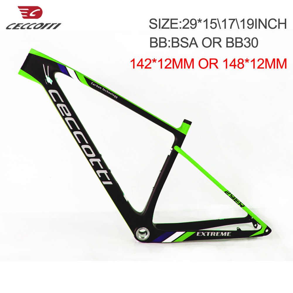 """27.5er 21/"""" Carbon Frame 12mm Thru Axle QR MTB Mountain Bike BB30 BSA UD Matt"""