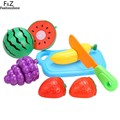 Kitchen Food Fruit Vegetable Cutting Toys Kids Pretend Play Plastic Educational Toys Cook Cosplay For Children Boys Girls Gift