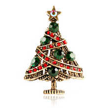 CINDY XIANG Trendy Christmas Tree Brooches for Women Vintage Alloy Creative Pins Coat Sweater Accessories Jewelry New Arrival