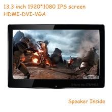 13.3 inch 1920*1080 1080p HD screen monitor IPS HDMI/VGA/DVI driver for Raspberry pi banana pi XBOX PS3 PS4 game display monitor