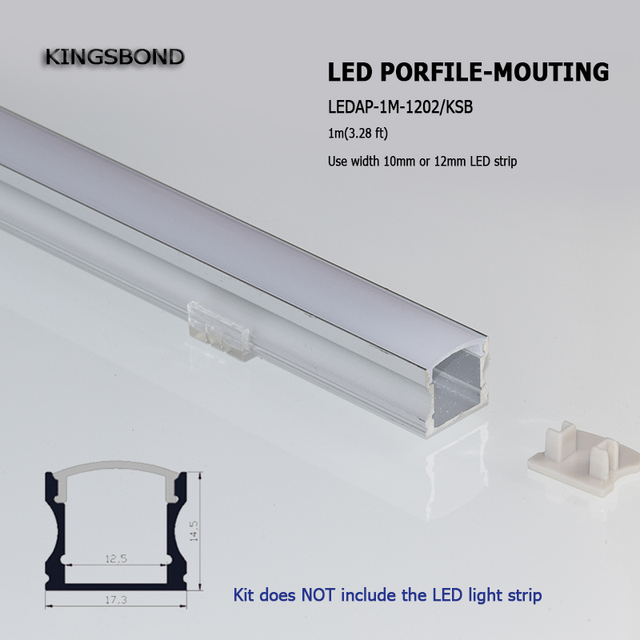 US $118 0  20PCS U type 15mm recessed aluminium LED profile without flange  aluminium slot for led strip light width 8mm 12mm-in Lamp Bases from Lights
