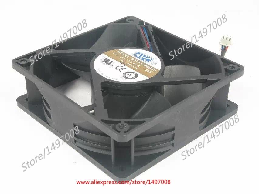 AVC DATA1238B4U -056 DC 24V 0.80A    120x120x38mm Server Square fan avc db12038b12h p012 dc 12v 4 5a 120x120x38mm server square fan