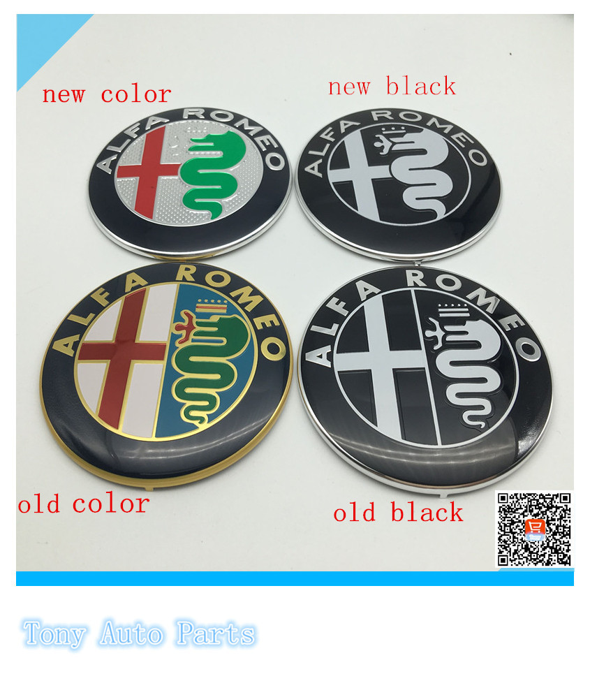 50pcs 2015 News High Quality Wholesale 74cm 74mm Alfa Romeo Car Symbol Logo Emblem Badge Sticker Auto Accessories Free Shipping In Emblems From Automobiles