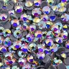 AAAAA SS 4 6 10 16 20 30 Hotfix Crystal AB Glass Rhinestones Hot Fix Clear Crystals Stones Flatback Iron On Strass For Clothes