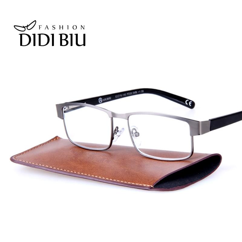 DIDI Men's Full Rim Reading Glasses For Sight Metal Optical Myopia Presbyopic Eyeglasses Diopters 1.0 1.5 2.0 2.5 3.0 3.5 H630