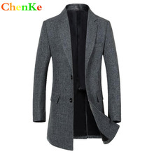 ChenKe brand autumn winter Men wool blends Jacket men s warm woolen blends overcoat England solid