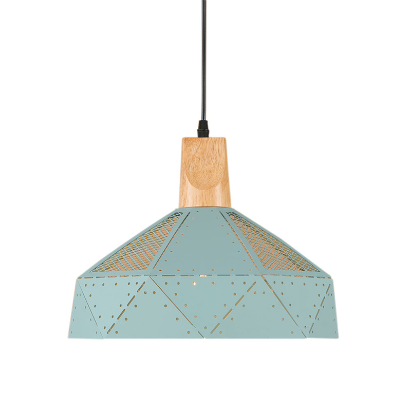 Modern Multicolor iron pendant lamp Wood socket e27 living room Light Cabinet dining room/bar lamp Pendant Light Fixture 220V single head small bar of korean modern minimalist iron pendant lamps dining room pendant light the living room kitchen