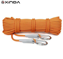 XINDA 10m Professional Rock Climbing Rope 10.5mm Diameter 25KN High Strength Downhill Survival Safety