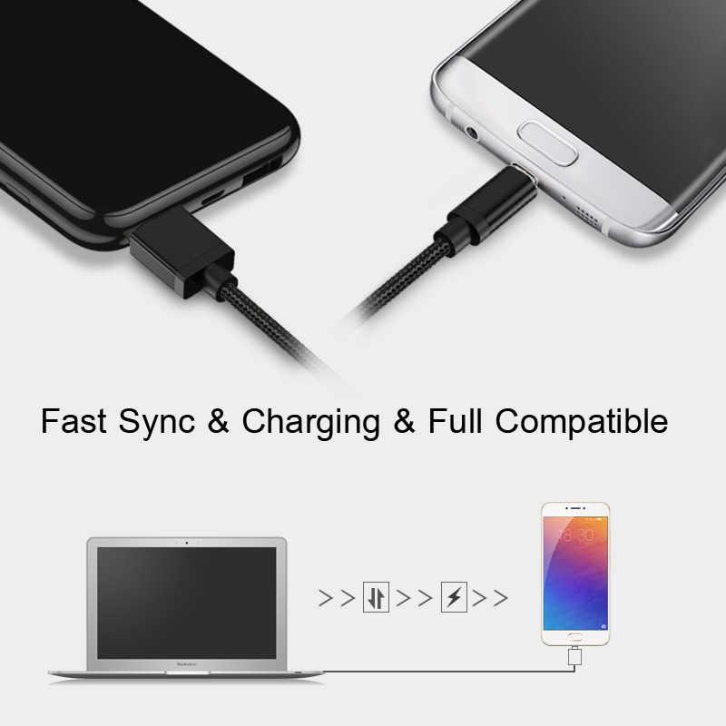 GUSGU kabel USB typu C do Samsung S9 S8 szybkie ładowanie telefon komórkowy synchronizacja danych kabel do Huawei Xiaomi Oneplus