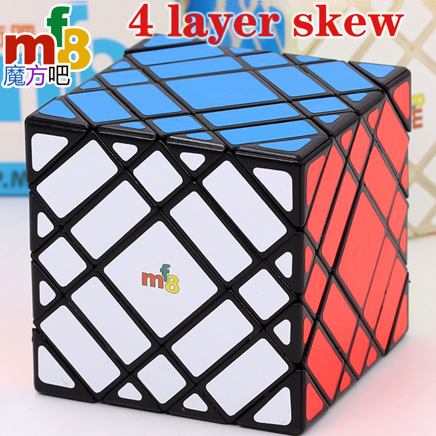Magic Cube puzzle mf8 true 4 layer Skew 7x7 strange shape special high level twist wisdom