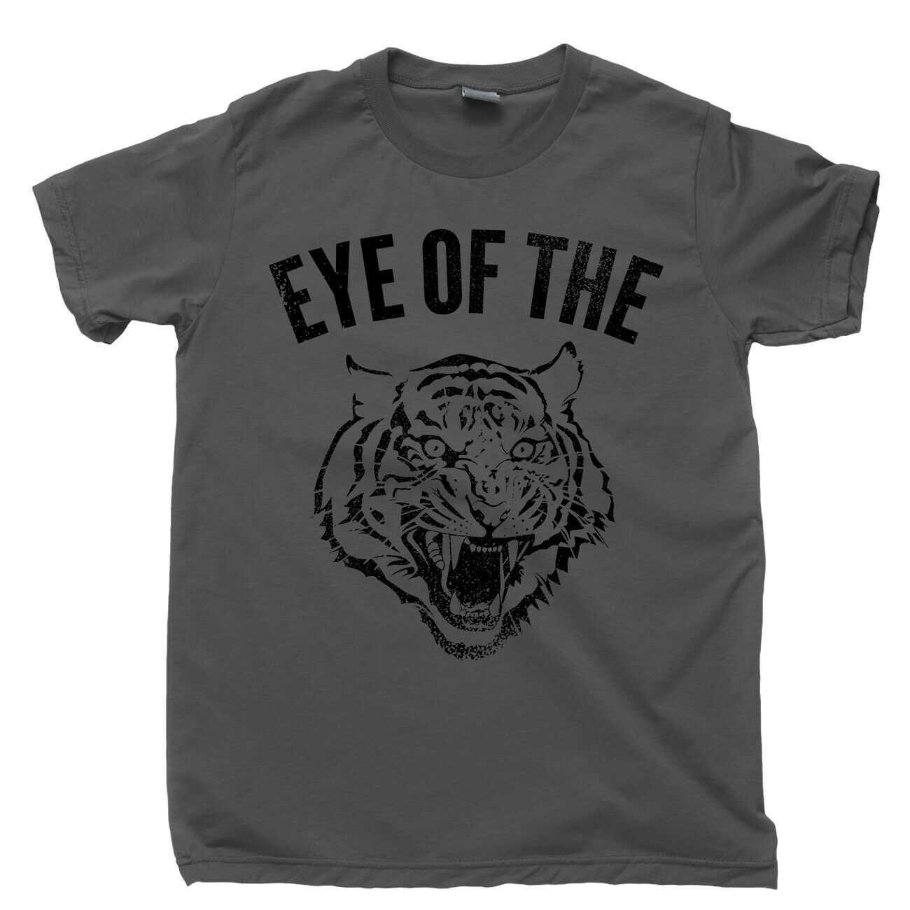 Eye of The Tiger T Shirt Fighter Rocky Boxing Movie Survivor 80S Rock Music Tee 2019 Fashion Solid Color Men T Shirt image