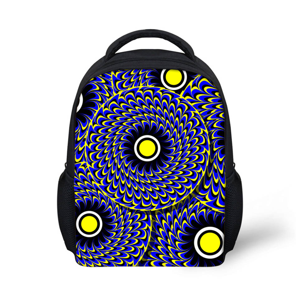 Noisydesigns Circles 3D Printing Shoulder Backpack for Teen students kid gifts bag Custo ...