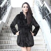2018 marten overcoat fur medium long mink fur coat piece not whole mink free shipping EMS fast delivery 5% off