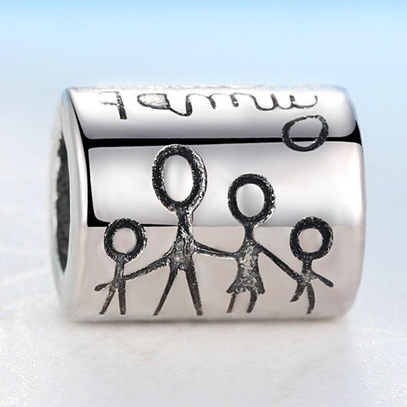 2019 Nieuwe Zilveren Kralen Charm Met Happy Family Diy Bead Charms Fit Pandora Armbanden Vrouwen Armbanden En Armbanden Sieraden Cadeau