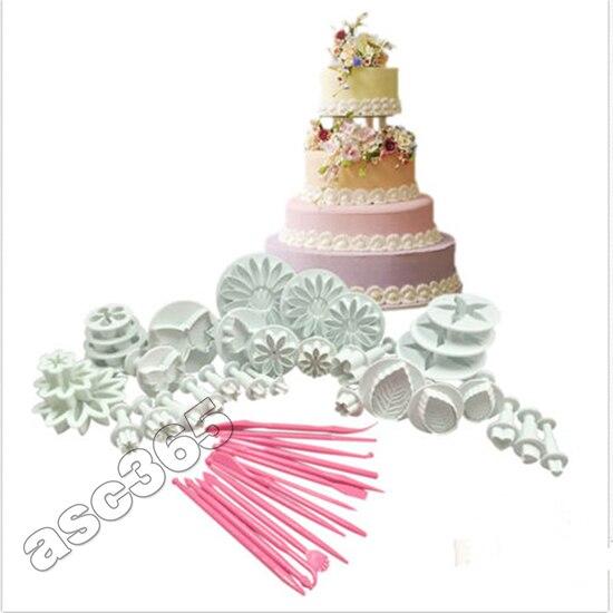 Горячая Распродажа 47 шт Кондитерские резаки инструменты для украшения торта помадка глазурь плунжер