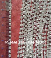 free shippment,3mm10yard/ lot+rhinestonecup chain with AAAclear stone factory price