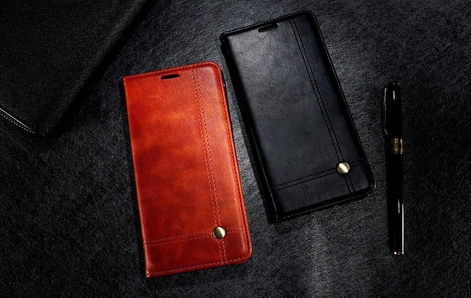 Deluxe floveme szlachetni mężczyźni skóra case dla iphone 6 plus 6s portfel pokrywa luksusowa brązowy odwróć kabura dla iphone 7 plus torby 10