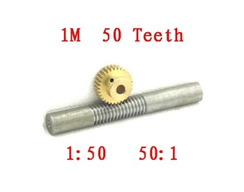 Free shipping/1M-50T reduction ratio:1:50 copper worm gear reducer transmission parts gear hole:8(10)mm/Meat Grinder Parts etc.