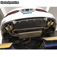 For Audi A3 Rear Body Kit Bumper Diffuser With Exhaust Auto Modified Accessories 2017 2018 2019 Standard Bumper Only