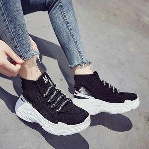Image 3 - Köpekbalığı Sneaker Kadın Scarpe Donna Kadın platform ayakkabılar Flats Moda Rahat Tıknaz Sneakers Kadın Ayakkabı Sıcak Satış Zapatos De Mujer