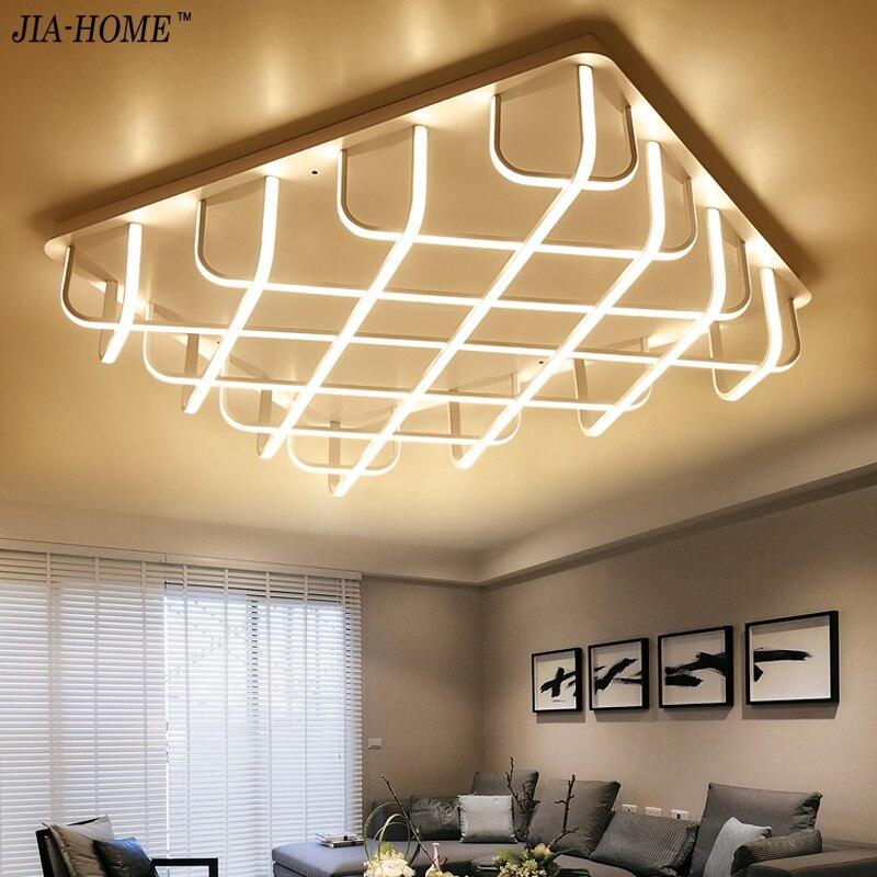 2017 Surface Mounted Modern Led Ceiling Lights For Living Room Bedroom Aluminum White AC85 265V Home