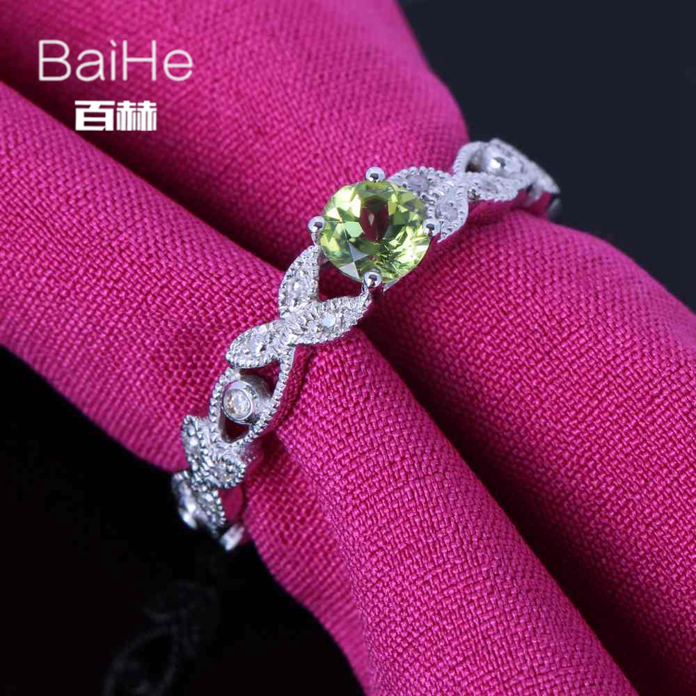 BAIHE Sterling Silver 925 0.22ct Certified Flawless Round cut 100 ...