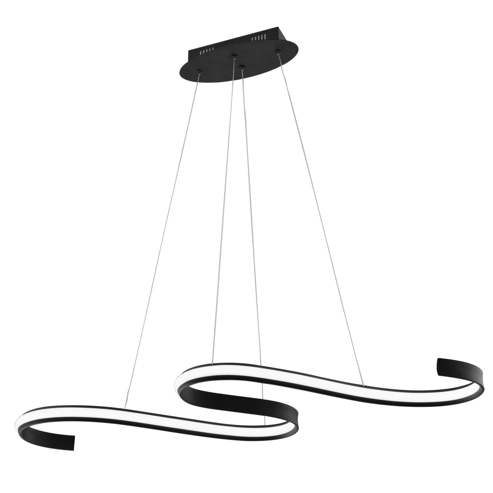 Wike New Modern LED Chandelier For Living Room Creative Design Black Hanging Kitchen Island Lighting Fixture Brief Home Lamp