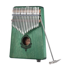 17-key Kalimba with Built-in Pickup Thumb Piano Mbira Mahogany Wood With 6.35mm Speaker Interface with Carry Bag Musical Gift(China)