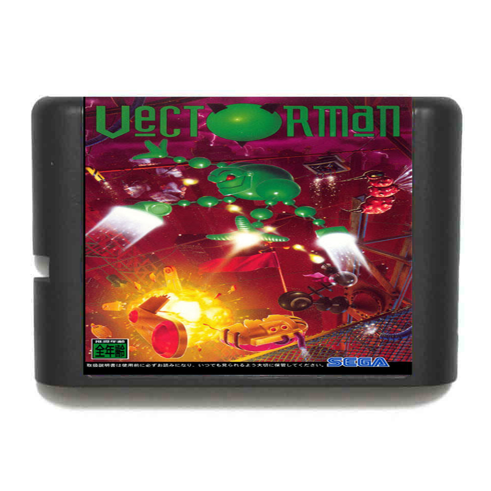 Vectorman 16 bit MD Game Card For Sega Mega Drive For Genesis