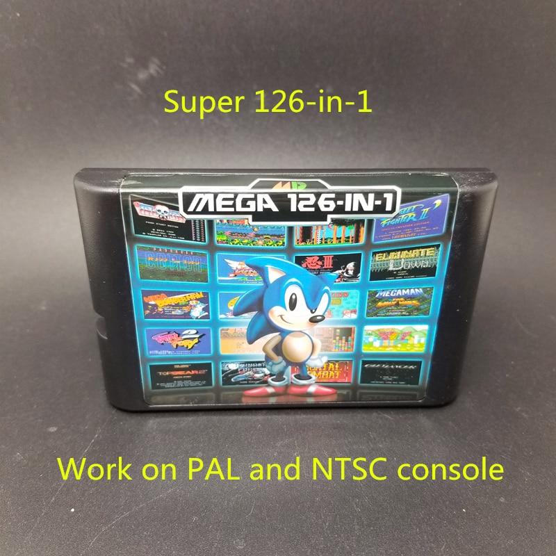 1,5g Kapazität Top 126 in 1 Spiel Karte Für Sega Megadrive Genesis mit Vampire Mörder Sunset Fahrer Mega mann turrican Bomberman