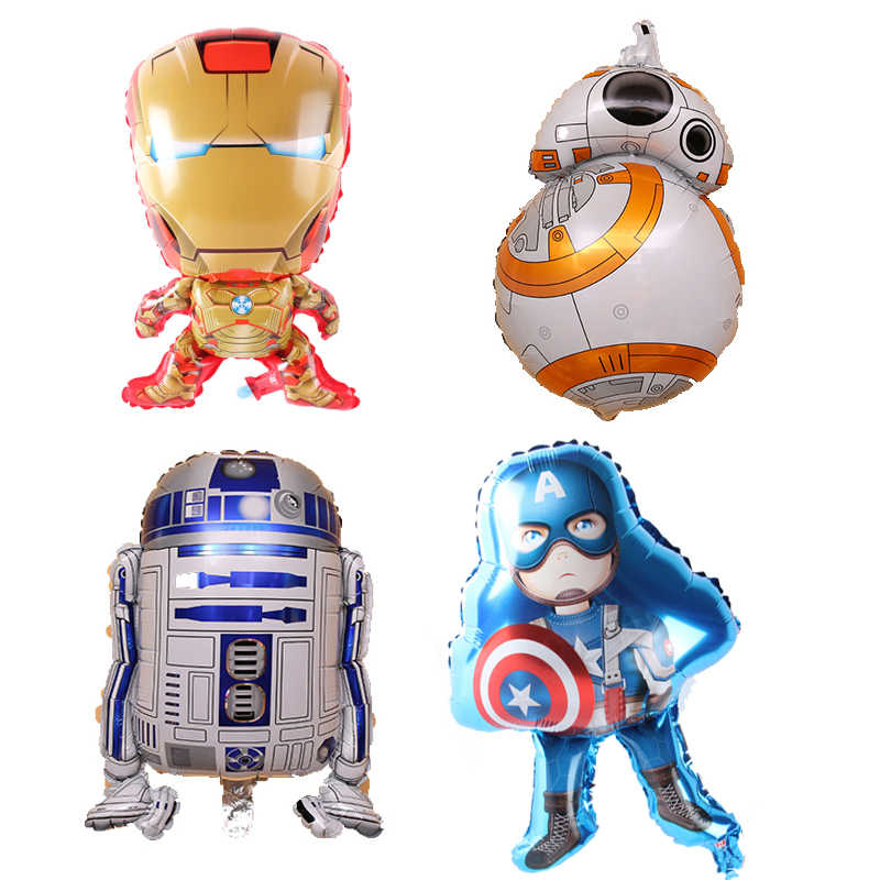1pcs Star Wars Balloons Robot Aluminum Foil Balloon Children's Happy Birthday Party Decoration Kids & Adult New Year Decor