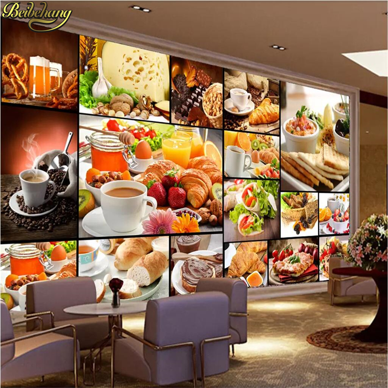 Beibehang Custom Bread Baking Tea Dessert Shop Cafe Background Photo Wallpaper For Walls 3 D Home Improvement Bakery Wall Paper