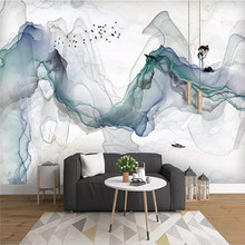 Professional production wallpaper mural Chinese abstract ink landscape background wall cloth decorative painting thickening