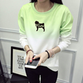 Pug MAMA Crewneck Camisola Das Mulheres Plus Size Algodão Estampado Camisola Hoodie Das Mulheres O Pescoço Animais Impressos Mulher Pullover JBW-21597