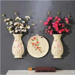 Vase Creative Decorative-Plate-Pendant Wall-Decoration Three-Dimensional Crafts