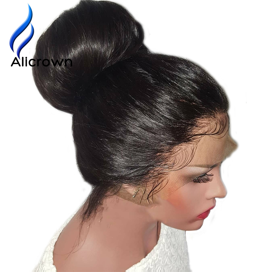Alicrown 360 Lace Frontal Human Hair Wigs Straight Brazilian Remy Hair Wig 22 5 4 2