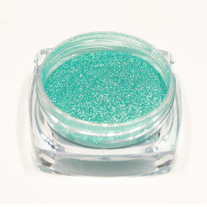 Image 4 - 1 Bottle Glitter Nail Powder Dust Blooming Nail Art Design Mermaid Shimmer Blue Color Decor Dipping Pigment Manicure LABJ