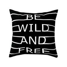 Черный и белый геометрический Чехол на подушку, мягкие удобные наволочки, квадратный Чехол на подушку для дивана, спальни, автомобиля, новинка 2019