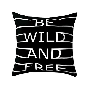 Image 1 - Black & White Geometric Throw  Pillow Cover Soft Comfortable Pillow Covers Square Cushion Case For Sofa Bedroom Car 2019 New