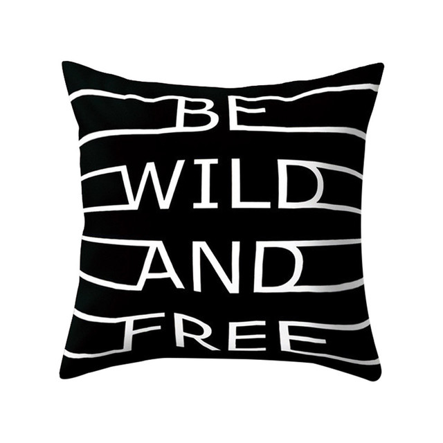 Black & White Geometric Throw  Pillow Cover Soft Comfortable Pillow Covers Square Cushion Case For Sofa Bedroom Car 2019 New