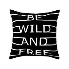 Noir et blanc géométrique jeter taie doreiller doux confortable oreiller couvre carré housse de coussin pour canapé chambre voiture 2019 nouveau
